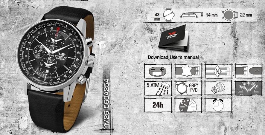 TimeStore.hu - Vostok Europe Gaz-14 Limouzine World Timer Alarm ... f46ff831ae