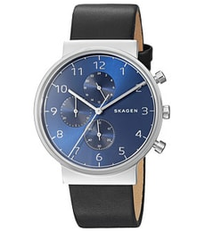 Hodinky Skagen Ancher Leather Chronograph SKW6417