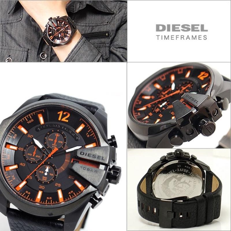 Всегда в наличии diesel mens dz mega chief chronograph black leather watch с доставкой по рф и снг.